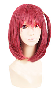 Angelaicos Women The Labyrinth Of Magic Morgiana Magi Lady Red Medium Lolita Harajuku Costume Cosplay Bob Wigs