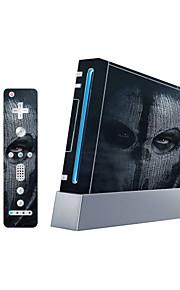 Consola Wii capac de protecție autocolant autocolant controlor piele piele