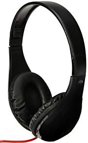 dm-5300 3,5 mm audio plug super bas hovedtelefon øretelefon hi-fi stereo headset med mikrofon til pc laptop notebook-sort