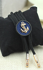 Men Vintage/Party/Casual Nylon/Other Navy Style Anchor Neck Tie