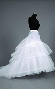 Déshabillés Robe sirène et robe évasée Chapelle Ras du Sol Longueur Cathédrale 3 Polyester Blanc