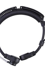 baiston 3,5 mm + 2,5 mm intrekbare keel trillingen oortelefoon met vinger ppt, microfoon voor walkie talkie