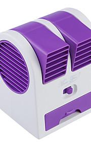mini bærbar usb / 3 x aa drevet bladeless turbin aromaterapi parfyme fan - lilla