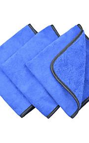 sinland microfiber auto poetsdoeken 400gsm sleeptouw verschillende kanten voor het reinigen van het polijsten 3-pack