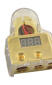 D015 Car Auto Digital Positive Battery Terminal 8/1/0/4 Gauge And Volt Meter(1pcs)