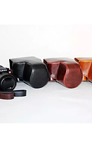 dengpin pu leer olie huid afneembare camera cover case tas voor Leica V-lux typ114 (verschillende kleuren)