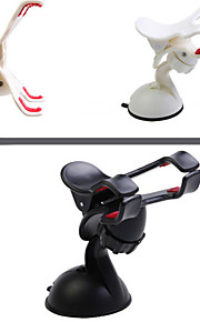 Car ABS Double Clip Multifunction 360 째 Rotary Phone Holder GPS Navigation for 5.5 Inch GPS Phone  (Assorted Colors)