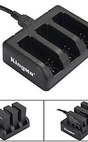 Kingma 3-slot acculader voor ahdbt-201 / ahdbt-301 / ahdbt-401 / GoPro hero 3/3 + / 4 - zwart
