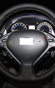 Xuji ™ sort ægte læder rat dækning for infiniti G25 G35 G37 2009-2013