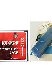 Kingston CF/32GB-U2 Ultimate Compact Flash Memory Card (32GB / Class 151~266X) And CF Card Reader