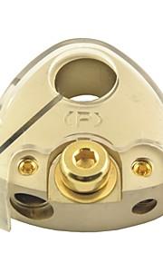 d008 bil auto audio-forstærker 1 i 3 ud strømfordeling blok pluspol klemme (1stk)