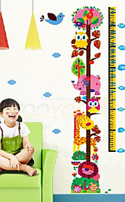 Giraffe Growth Chart Wall Stickers For Kids Room Zooyoo6335 Children Decals Animal Wall Art Girls Birthday Gift