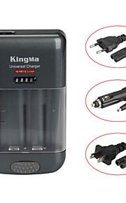 Kingma bm004c universele lader voor mobiele telefoon / camera camcorder / AA / AAA batterij en GoPro batterij - grijs + zwart