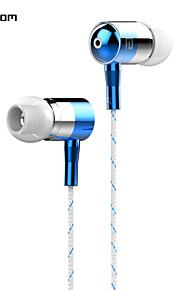 langsdom i-1 gevlochten stof omwikkeld koord lawaai-isolerende in-ear earohone met microfoon