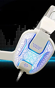 hi-fi farve ændrede lyd chok med klar stemme bærbare kablede stereo gaming headset til ps3 / PS4&andre spil