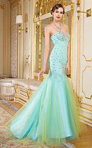 Formeller Abend Kleid Organza - Eng anliegend & weit auslaufend - bodenlang - Herz-Ausschnitt