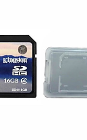Kingston Digital 16GB Class 4 SD Memory Card  And The Memory Card Box