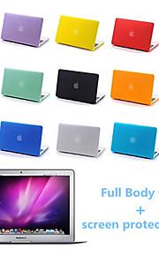 högsta kvalitet hela kroppen matt fallet och skärmen protetive film för MacBook Pro 13,3 tum (blandade färger)