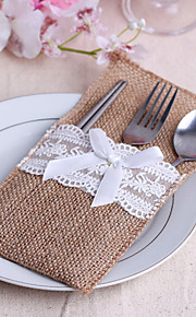 Serving Sets Wedding Cake Knife  Supplies Jute Bags Set of 10---- Fantasy