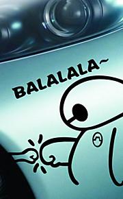 divertente felice carino grande eroe 6 baymax balalala di auto decalcomania coperture impermeabili adesivo moto car styling