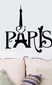 Wall Stickers Wall Decals,  Paris PVC Wall Stickers