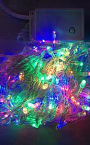 4W 10 Meter lange 100pcs LED-String-Licht mit AC110-220V Eingang PVC transparent, rot / grün / blau / gelb Farbwechsel