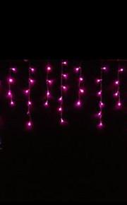 4W 3 Meter lange 100pcs LED-String-Licht mit AC110-220V Eingang PVC transparent, rosa Farbe