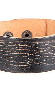 Unisex  Western Style Simple Chain Bracelet Faux Leather