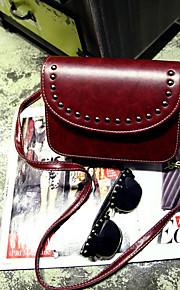 Women 's PU Baguette Shoulder Bag - Blue/Brown/Red/Black