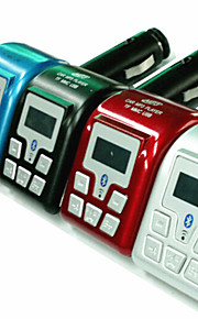 Bluetooth MP3 Player FM Transmitter with Caller ID Handsfree (Assorted Colors)