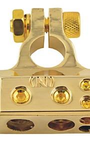 D003 Car Auto Metal Screw Straight Type Battery Terminals Negative Clamps-Gold(1pcs)