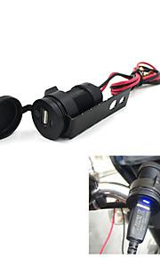 12v zwarte motorfiets mobiele telefoon usb-lader power adapter aansluiting waterdicht