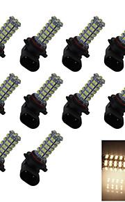 10X 68 1210 LED 9006 Bulb Warm White Fog Light Parking Backup Lamp DC 12V HB4 P22d H304