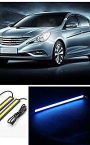 10st hry® 17cm 600-700lm dagrijverlichting ice-bule kleur, licht cob DRL waterdichte daglicht (12v)