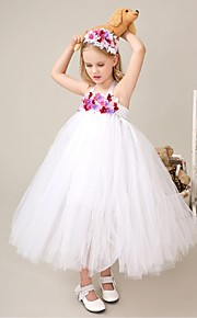 Tanssiaisasu Tylli Flower Girl Dress - Hihaton - Polven alle