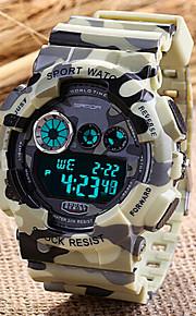 Herren Armbanduhr Japanischer Quartz LCD / Kalender / Chronograph / Alarm Caucho Band camuflaje Rot / Grün / Grau Marke