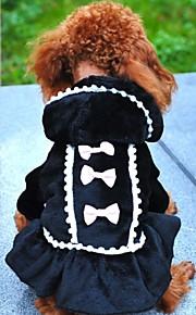 Negro/Rosado - Boda/Cosplay - Algodón/Polar Fleece - Abrigos/Vestidos/Saco y Capucha - Perros/Gatos -