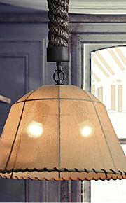 Retro 1 Lamp Hemp Rope Chandelier Retro Country Style