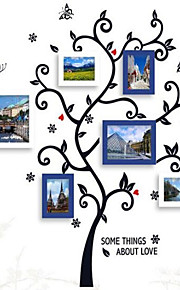 Photo Frame Collection Set med 6 med Wall Sticker 08