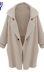 ZAY Women's Europe New Atmospheric Long Sleeve Loose Cardigan Coat