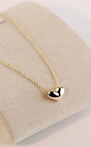ゴールド愛のハートの短い鎖骨ネックレス(ゴールド/シルバー)(1個)