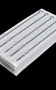 50pcs 7F Tattoo Needles Disposable Steel Needle Flat Shader Professional