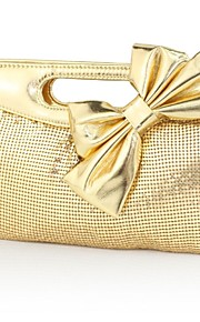 Women leatherette Event/Party Evening Bag Gold / Red / Gray / Black / Champagne