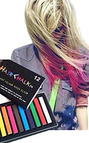 midlertidige 12 farge kritt fargestifter for håret med giftfri hårfargepast stikke DIY styling verktøy