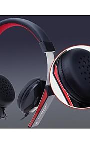 cosonic ct-656 mode hovedtelefon m / mikrofon - sort + rød + sølv (3,5 mm stik / 120cm)
