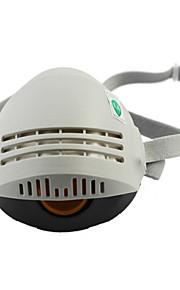 gummi halv ansigt støvmaske (hvid / grå)