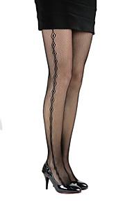 Women's Mesh Outer Diamond Patterned Pantyhose