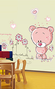 Removable Wall Stickers Cute Bear Cartoon Children's Room Bedroom Wall Stickers
