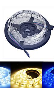 Ding Yao 5 M 60/m 5050 SMD Warm White/Hvid/RGB/Rød/Gul/Blå 50 W RGB-lysstriper DC12 V
