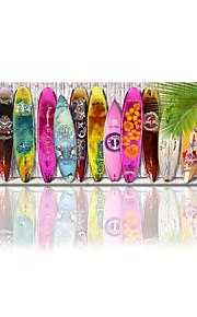 visuell star®surfboard väggkonst stranden inredning / strand konst väggdekor / surfbräda sträckt arbetsytan utskrift